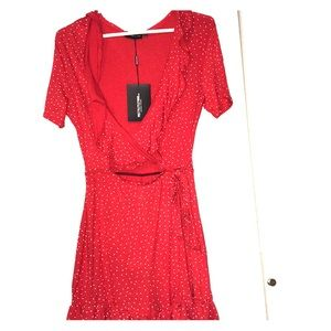 """""""Pretty Little Thing"""" Polka Dotted Red Dress"""